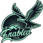The Enabled.vip logo - A hawk soaring into the future