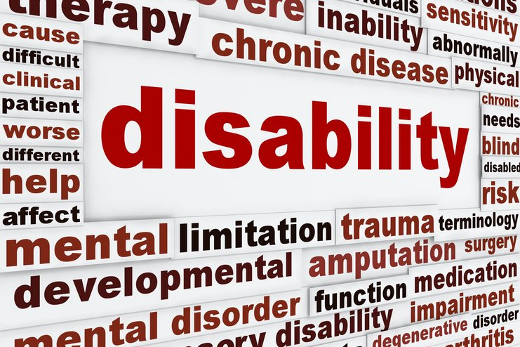 """A collection of related words around the word """"Disability"""""""