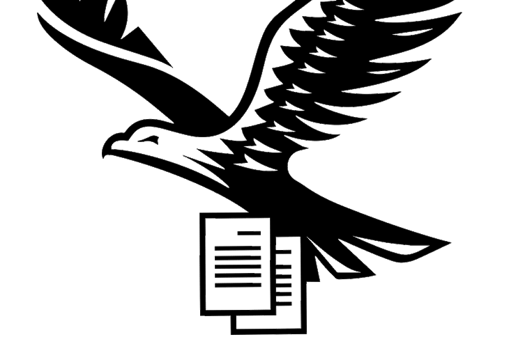 The enabled hawk carrying documents
