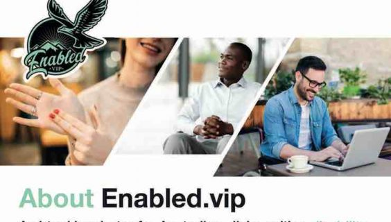 Top of page 1 of a brochure about Enabled.vip