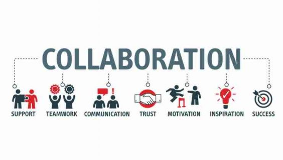 A graphic about the elements of strong mutually beneficial collaboration.