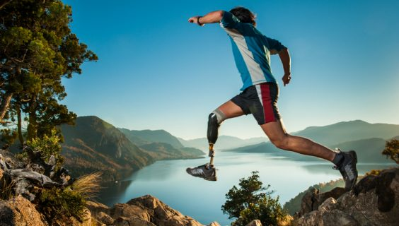 A man with a prosthetic leg takes a gutsy leap in the pristine wilderness.